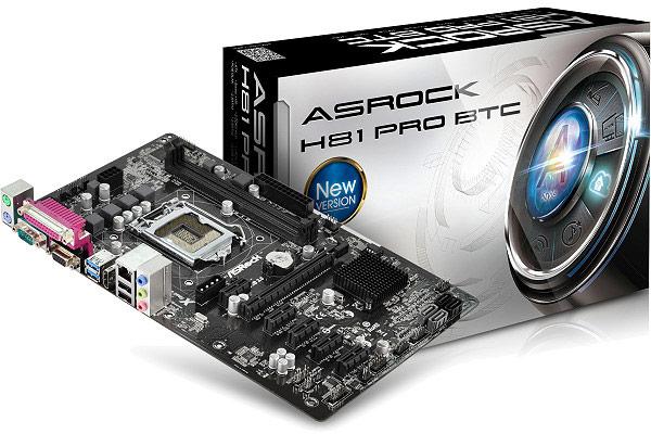 Системные платы ASRock H81 Pro BTC и H61 Pro BTC ориентированы для использования в системах для добычи виртуальной валюты