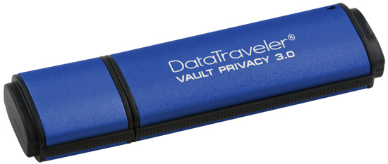Размеры накопителей Kingston Digital DataTraveler Vault Privacy 3.0  — 78 x 22 x 12 мм
