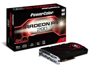 ���������� PowerColor R9 290 OC �������� ������������� DL DVI-D (��� �����), HDMI � DP
