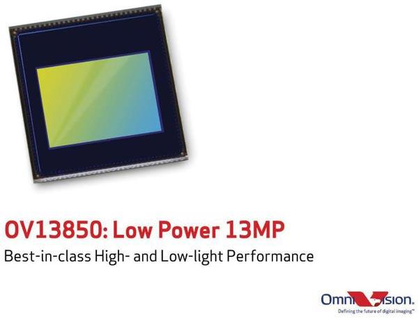 Оптический формат OV13850 — 1/3,06 дюйма