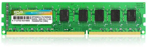 Модули Silicon Power DDR3L-1333 работают с задержкой CAS 9, модули DDR3L-1600 — CAS 11