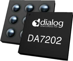 УНЧ класса D Dialog Semiconductor DA7202 выпускается в корпусе WLCSP
