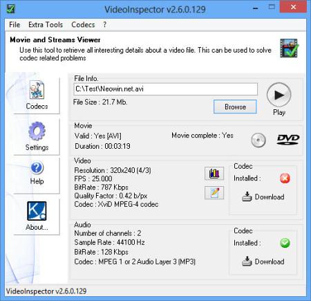 ���� ��������� VideoInspector