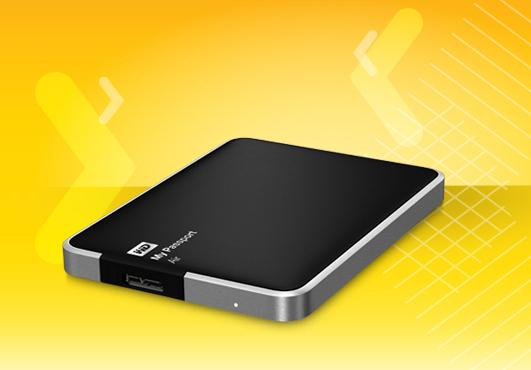Внешний накопитель WD My Passport Air объемом 1 ТБ оснащен интерфейсом USB 3.0
