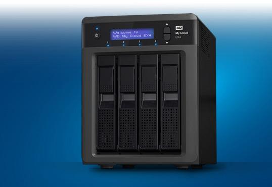 Сетевое хранилище WD My Cloud EX4 рассчитано на четыре накопителя
