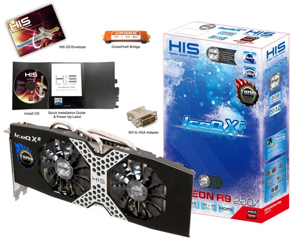 ������� HIS ��������� ����������� 3D-����� R9 280X iPower IceQX<sup>2</sup> Turbo Boost Clock � 3 �� ������