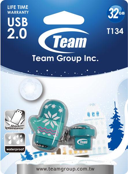 Флэшка Team Group T134 оснащена интерфейсом USB 2.0