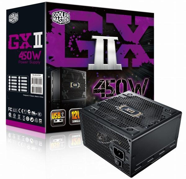 Блоки питания серии Cooler Master GX II оснащены фиксированными кабельными системами