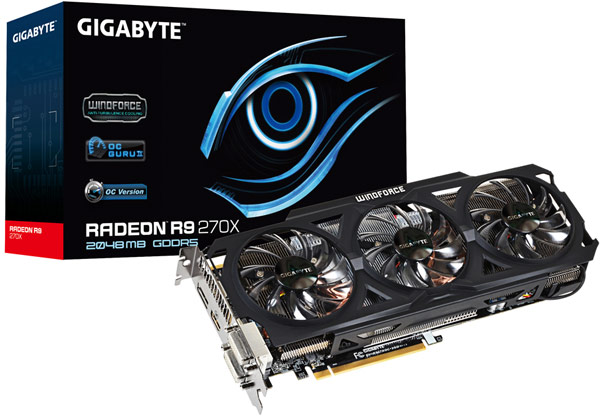 Gigabyte ��������� ����������� 3D-����� Radeon R9 280X � R9 270X Overclock Edition
