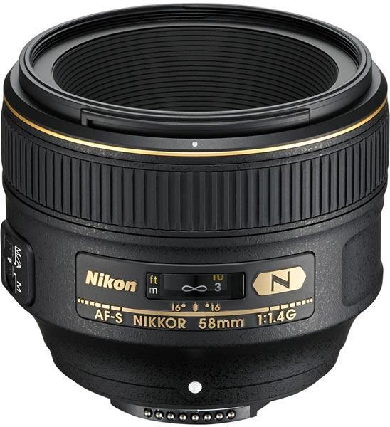 Цена объектива AF-S Nikkor 58mm f/1.4G - $1700