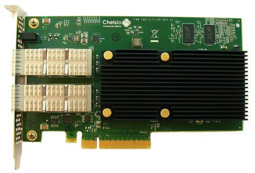 Chelsio выпускает адаптеры T522-CR, T540-CR и T580-CR, оснащенные портами Ethernet 10 и 40 Гбит/с