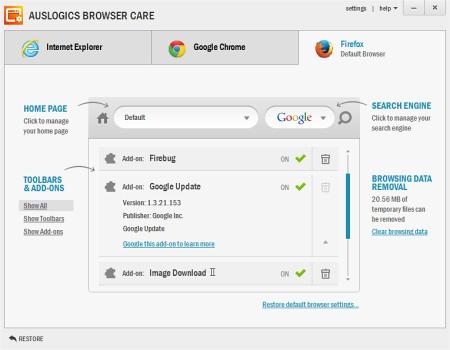 Auslogic Browser Care