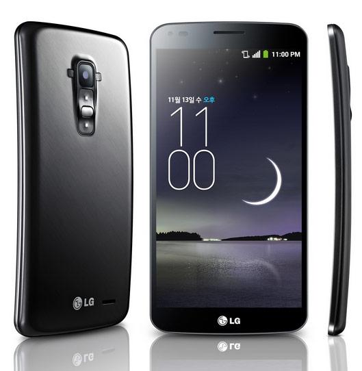 Смартфон LG G Flex оснащен шестидюймовым экраном