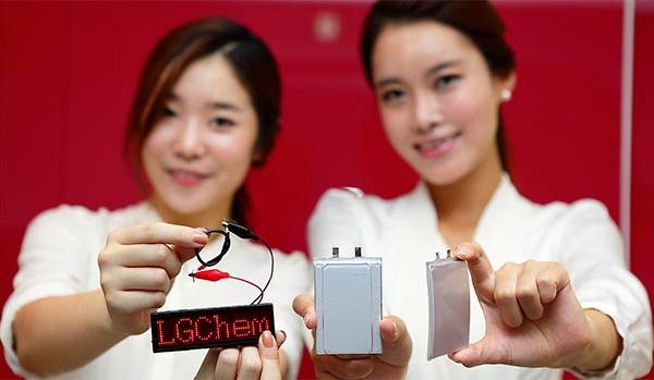 LG Chem начинает производство аккумуляторов нового поколения: ступенчатых, изогнутых и кабельных