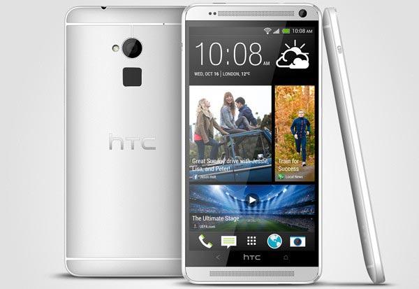Смартфон HTC One max оснащен дисплеем размером 5,9 дюйма