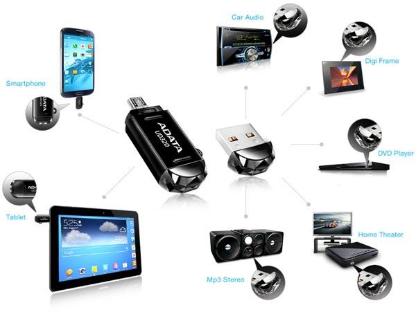 Накопители Adata DashDrive Durable UD320 предложены объемом 16 и 32 ГБ