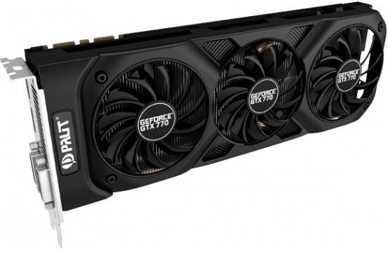 Базовая частота GPU Palit GeForce GTX 770 OC составляет 1085 МГц