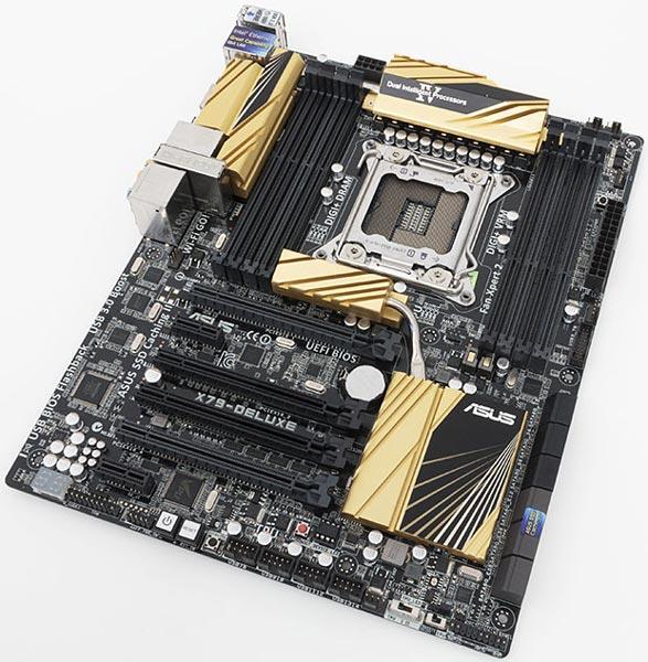 Системная плата Asus X79-Deluxe рассчитана на процессоры в исполнении LGA2011