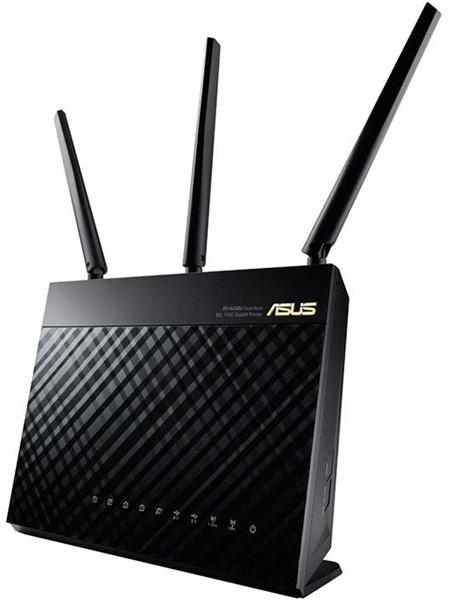 Маршрутизатор беспроводной сети Asus RT-AC68U поддерживает скорости до 1300 Мбит/с