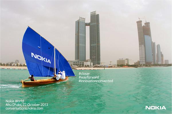 Компания Nokia сообщила о предстоящем мероприятии, которое намечено на 22 октября в городе Абу-Даби