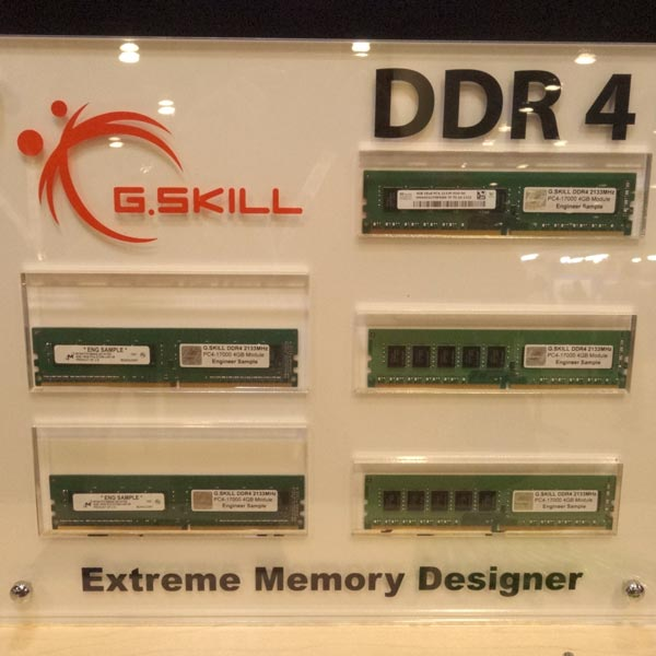 На IDF 2013 широко представлена память типа DDR4, поддерживаемая платформой Broadwell