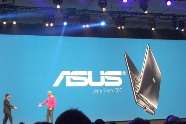 На сцену вышел Джерри Шин из Asus