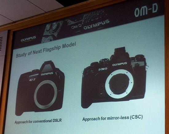 Камера Olympus E-7 системы Four Thirds проиграла беззеркальной камере Olympus OM-D E-M1 системы Micro Four Thirds