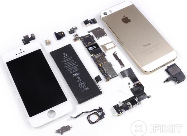 Специалисты iFixit разобрали смартфон Apple iPhone 5s и оценили его ремонтопригодность