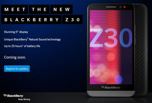 Смартфон BlackBerry Z30 работает под управлением ОС BB 10 OS 10.2