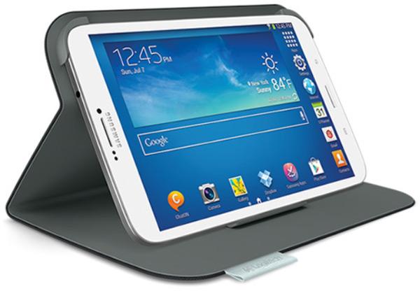 Особенностью модели Logitech Ultrathin Keyboard Folio for Samsung Galaxy Tab 3 10.1 является наличие клавиатуры