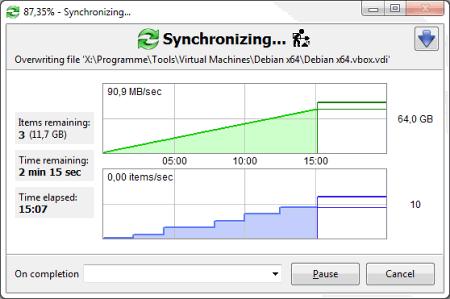 Интерфейс FreeFileSync