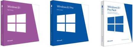 Версии Windows 8.1