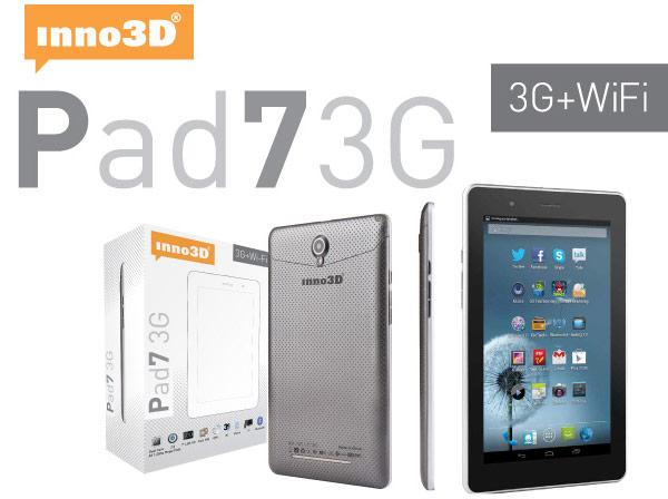 Питание планшета Inno3D Pad7 3G обеспечивает батарея емкостью 3600 мА∙ч