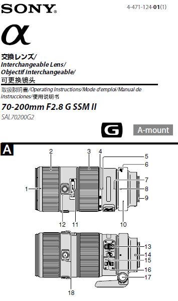 Цена объектива Sony 70-200mm f/2.8G SSM II (SAL70200G2) пока неизвестна