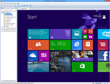 With the release of Windows 8.1, VMware has added support of Windows8