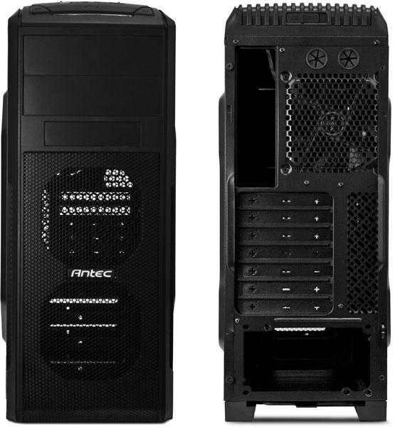 Корпус для ПК Antec GX500 целиком окрашен в черный цвет