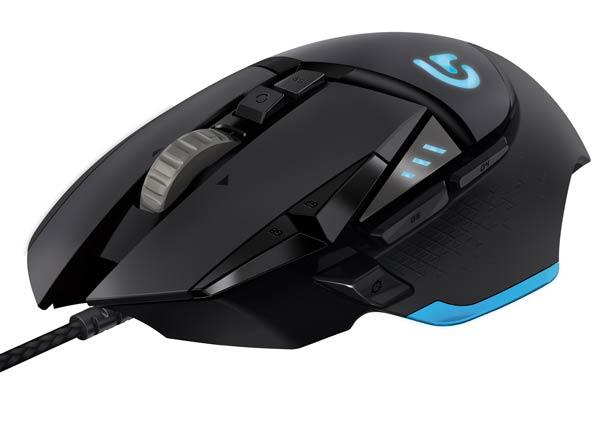 Игровая мышь Logitech G502 Proteus Core имеет проводное подключение