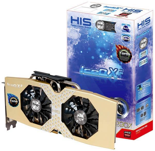 Конструкция охладителя 3D-карты HIS R9 290X IceQ X&sup2 Turbo включает пять тепловых трубок