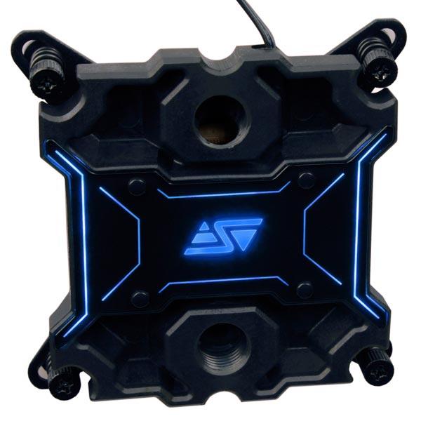Водоблок Swiftech Apogee XL оснащен светодиодной подсветкой