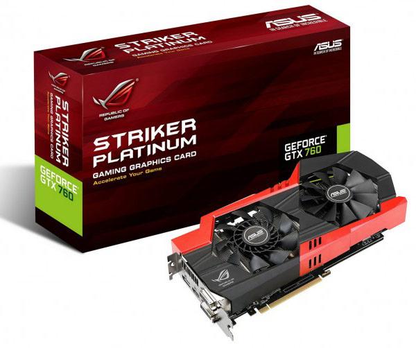 3D-карте Asus ROG Striker GTX 760 Platinum досталась подсистема питания с цифровым управлением DIGI+ II