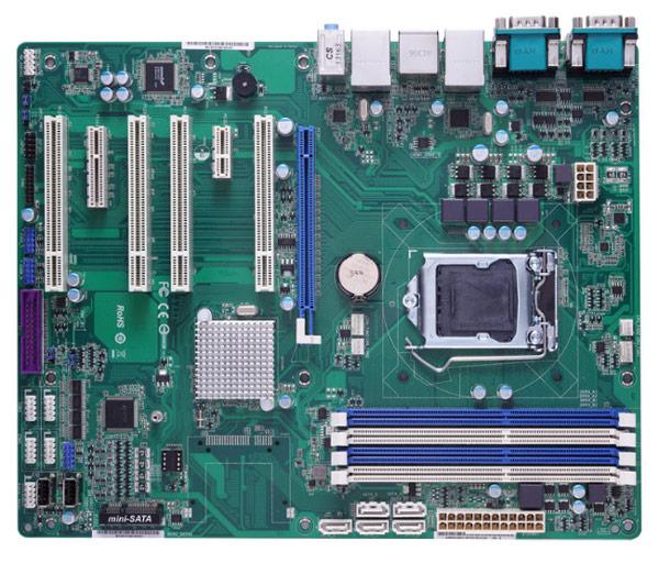 Основой платы Axiomtek IMB211 служит набор системной логики Intel Q87 Express