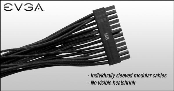 Доступны наборы кабелей EVGA красного, черного, белого и синего цвета