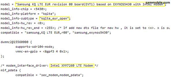 В премиум-версии Samsung Galaxy S5 будет использоваться модем LTE Intel XMM7260