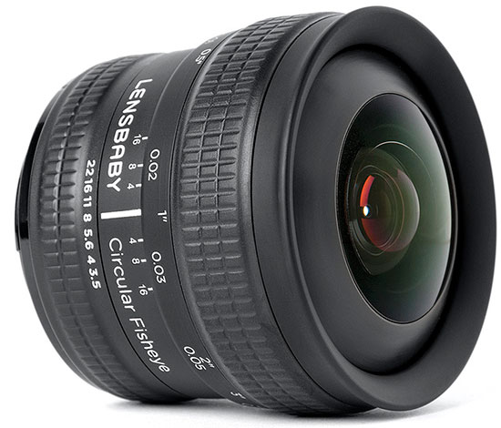 Объектив Lensbaby 5.8mm f/3.5 Circular Fisheye в вариантах для камер Canon и Nikon стоит $300