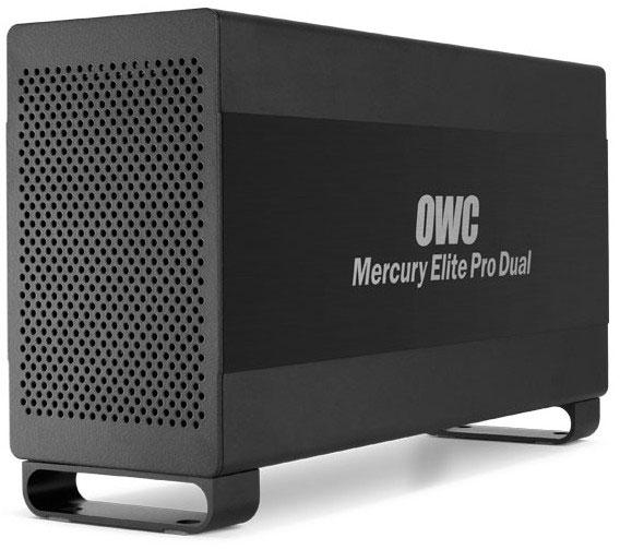 Внешний двухдисковый массив OWC Mercury Elite Pro Dual оснащен интерфейсами Thunderbolt и USB 3.0