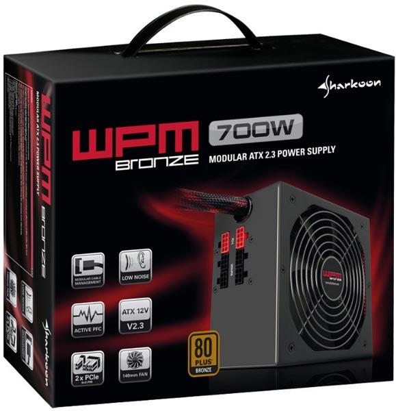 Блоки питания Sharkoon WPM Bronze оснащены модульными кабельными системами