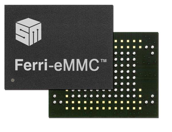 Silicon Motion расширяет ассортимент однокорпусных накопителей Ferri-eMMC, соответствующих спецификации eMMC 4.5