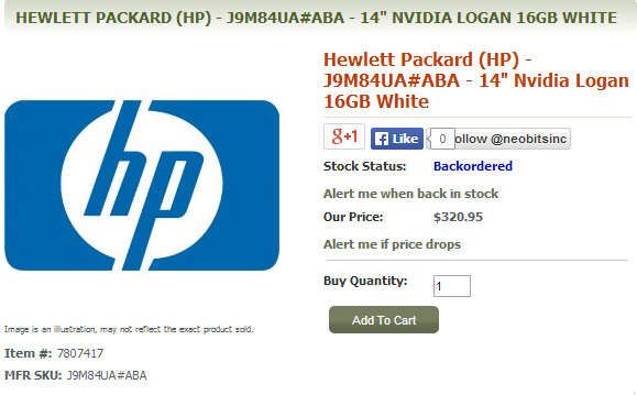 ������� HP �� ��������� Nvidia Tegra K1 ��� ������� � ��������-��������