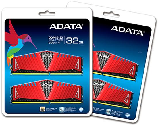 Модули памяти Adata XPG Z1 DDR4 предложены по два и по четыре