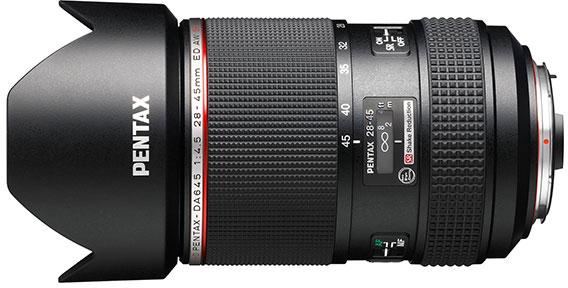 HD Pentax-DA645 28-45mm F4.5ED AW SR - первый сверхширокоугольный зум-объектив для среднеформатных камер